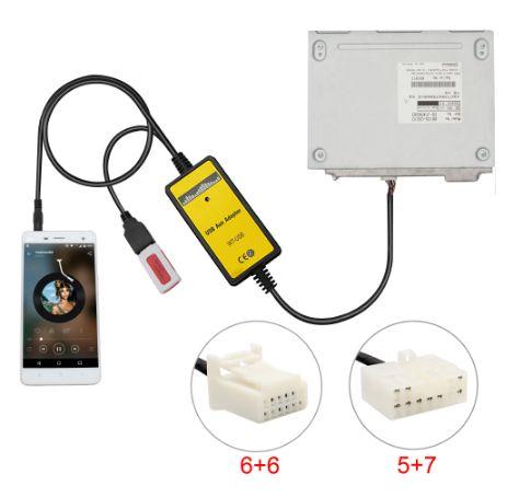 USB AUX адаптер Toyota Lexus MP3 емулятор CD чейнджера 6+6, 5+7 Тойота