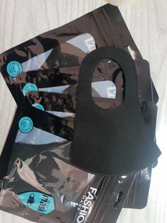 Многоразовая защитная маска-пита черная L в индивидуальной упаковке
