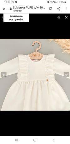 Sukienka lamere La mere Pure 68 chrzest