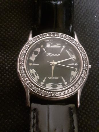 Серебряные часы ника