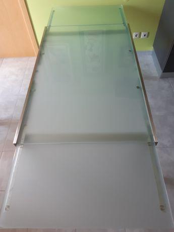 Mesa de vidro extensível