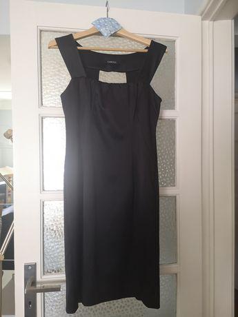 Vestido de cerimónia preto, lindo decote nas costas Caroll tam. 42 peq