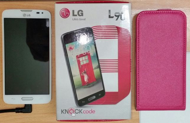 LG L90 LG-D405n + futerał JAK NOWY !!! szkło hartowane na wyświetlaczu