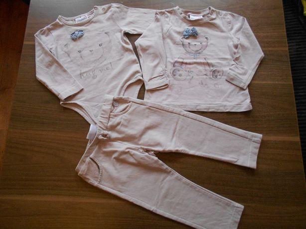 Coccodrillo bluzeczka,leginsy,bluza,body zestaw 86