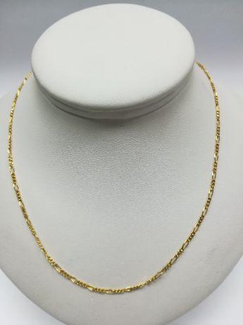 Złoty łańcuszek złoto 585 figaro