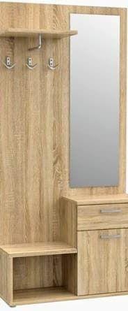przedpokój dąb sonoma ściana