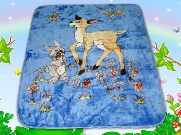 Плед одеяло покрывало детское тёплое плюшевый