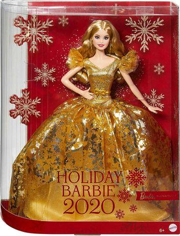 Барби Коллекционная 2020 в золотистом платье Barbie 2020 Holiday