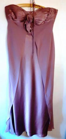 stylowa suknia w purpurowym różu