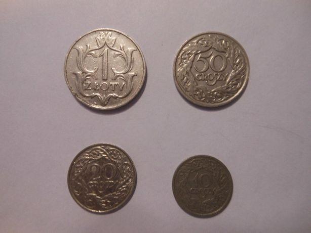 Przedwojenne polskie monety.