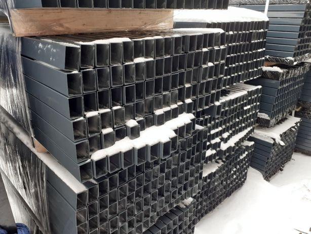 Słupki 60 x 40 grafit antracyt 2,0 m slupek do paneli ogrodzeniowych