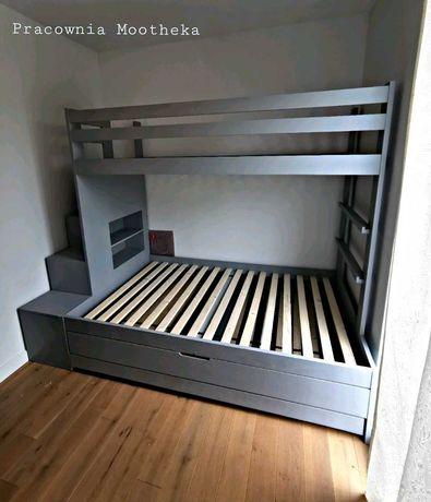 Łóżko piętrowe drewniane