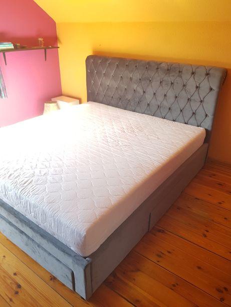 Łóżko tapicerowane + materac 180 x 200cm