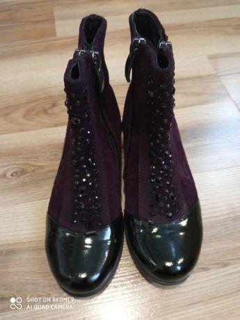 Ботинки кожаные Kemal Pafi демисезонные для двойни погодок