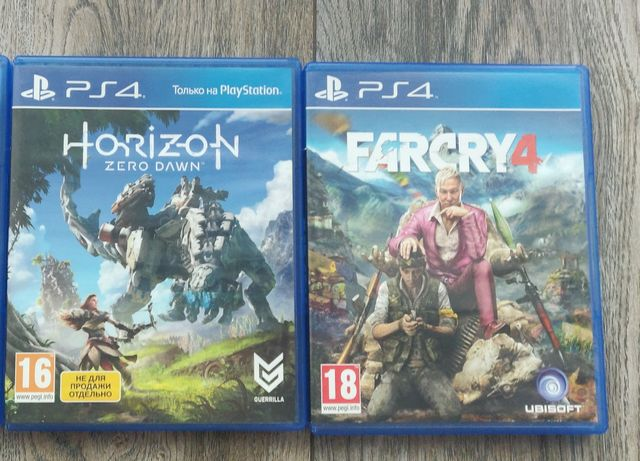 Продаю: Far Cry 4, Horizont Zero Dawn