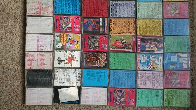 C - 64 Unikatowe gry na 55 kasetach , instrukcja i black box v8