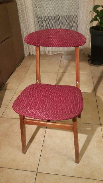 Krzesło drewniane PRL Hałas