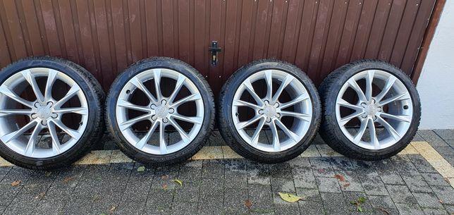 Felgi Audi z oponami zimowymi