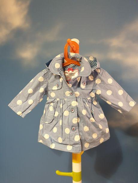 Płaszczyk Mothercare dla dziewczynki 6 - 9 miesięcy, 74 cm