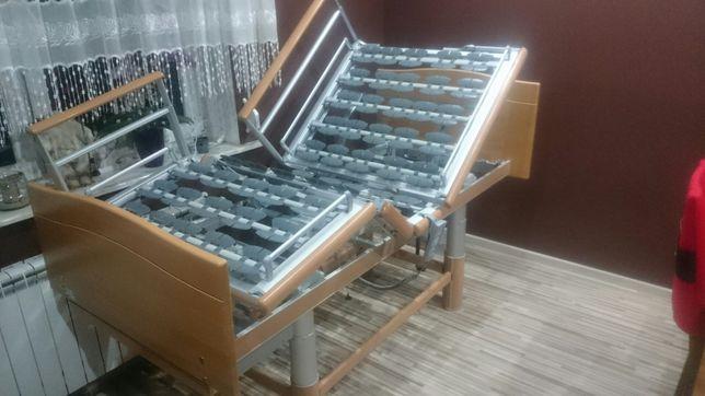Łóżko rehabilitacyjne domowe meblowe - elektryczne na pilota