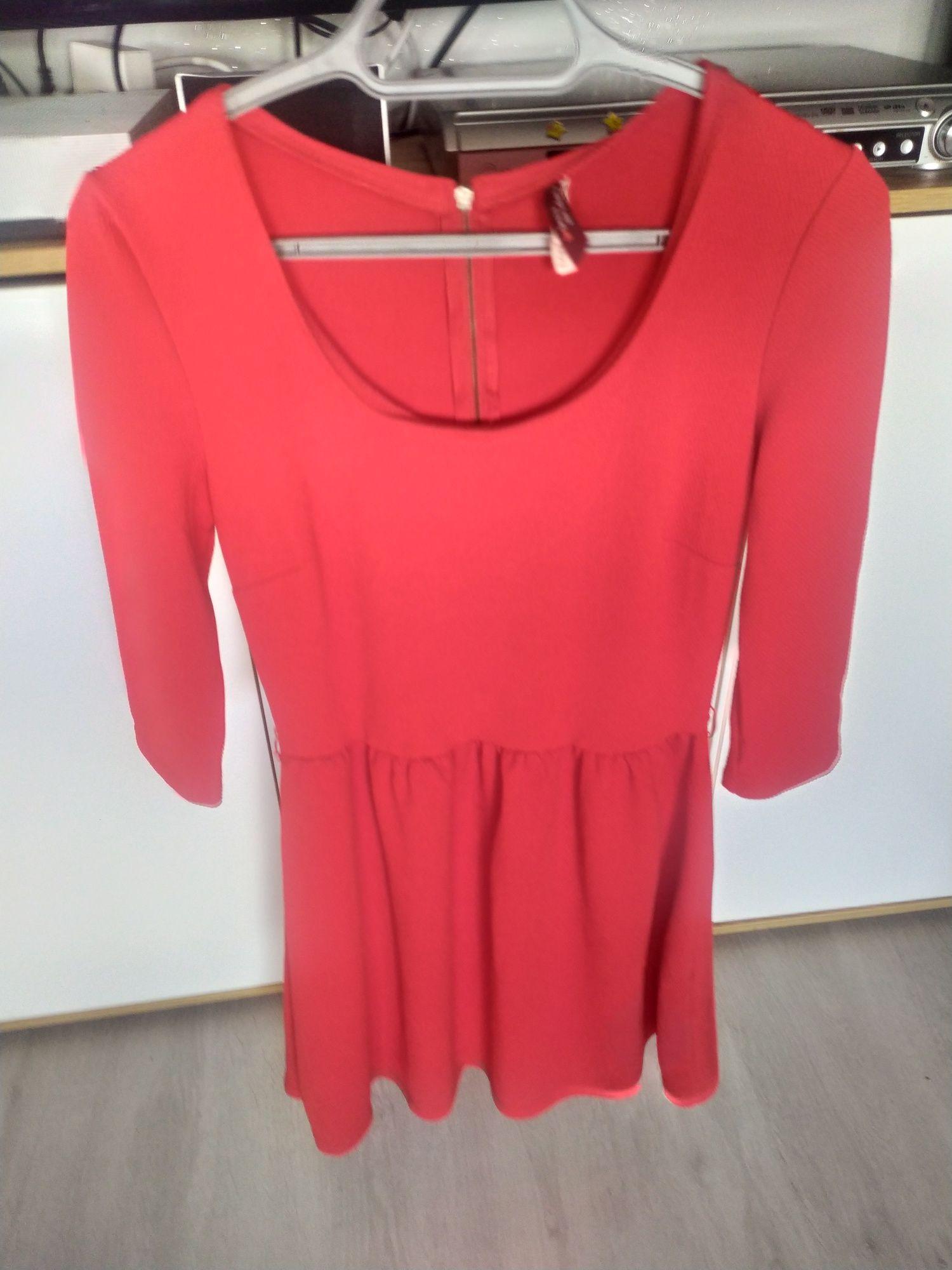 Sukienka czerwona bershka M L