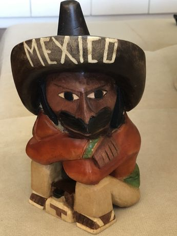 Boneco em Madeira - Mexicano