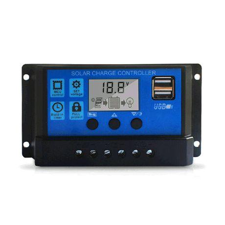 Regulator ładowania 60A LCD + USB do paneli słonecznych