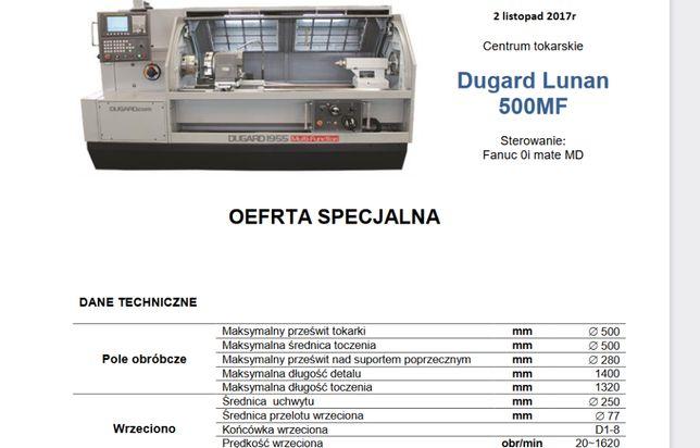 sprzedam tokarkę CNC DUGARD LUNAN 500 MF listopad 2017