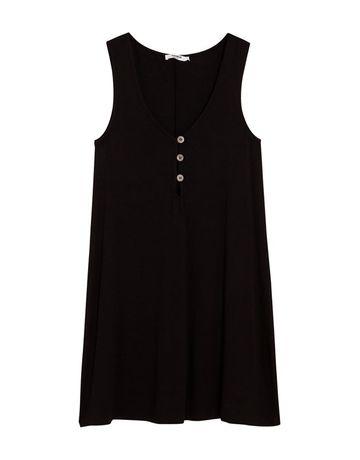 Маленькое чёрное платье pull&bear новое на пуговицах майка xs-s летнее