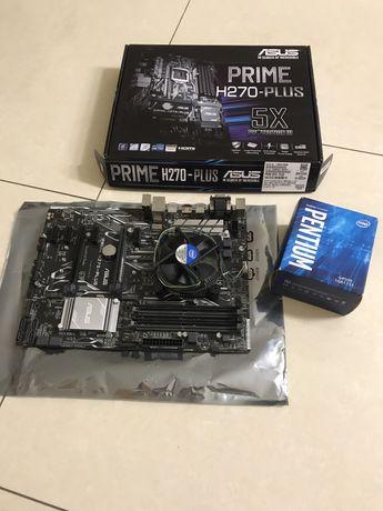 Asus Prime H270 Plus + CPU intel G4500, LGA 1151