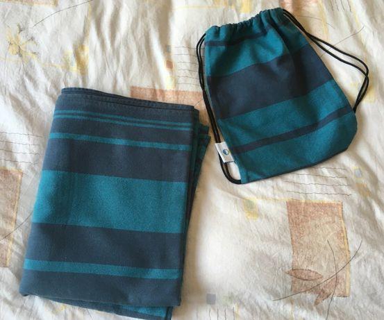 chusta tkana Little Frog z plecaczkiem plus chusta elastyczna gratis