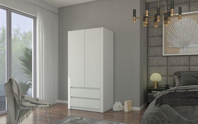 Szafa garderoba 90cm 2 drzwiowa 2 szuflady NOWA