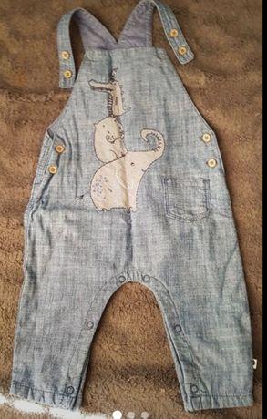Spodnie na szelkach Next baby 68