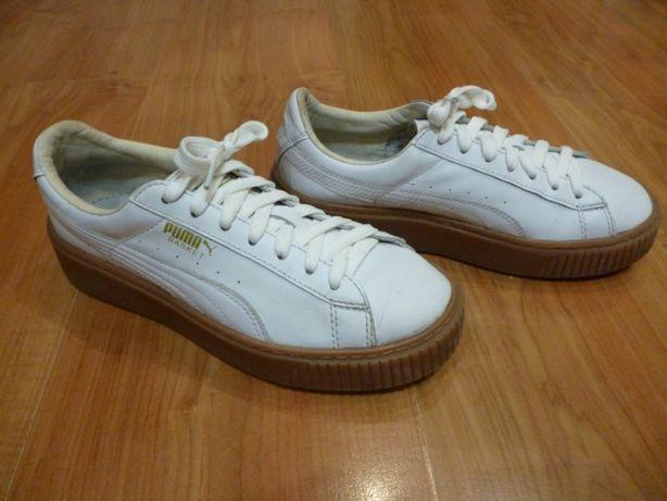 Оригинальные женские кожаные кроссовки puma basket