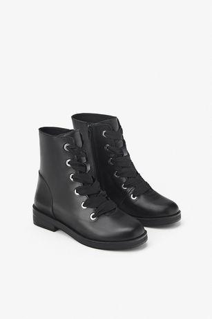 Ботинки для девочки ,кожа Zara (ecco clarks geox)