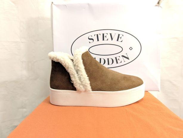 Женские ботинки кроссовки слипоны Steve Madden. Толстая подошва. США.