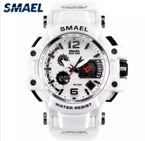 Sportowy zegarek męski SMAEL biały wodoodporny + Org pudelko