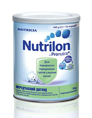 Nutrilon передчасний догляд