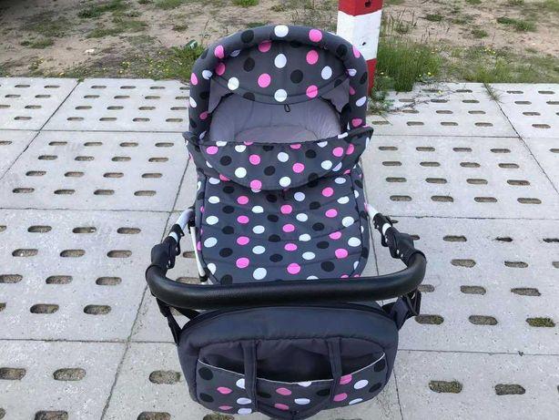 Wózek dziecięcy głęboki 2w1 gondola + nosidełko + torba + gwarancja