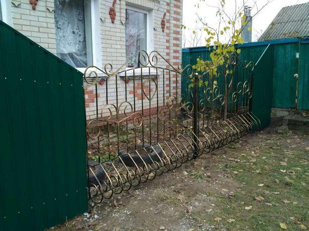 Изготовление забор из профнастила, ворота, калитка, металоконструкции