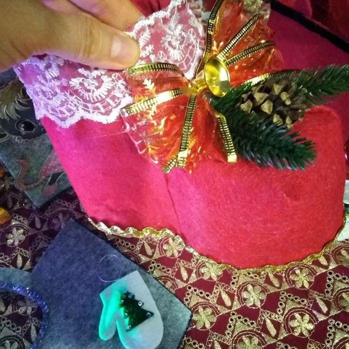 Новогодний сапожок для подарков .Декор Константиновка - изображение 1