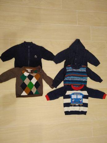 Zestaw swetrów dla chłopca r. 68. 5szt. idealnych na wiosnę.