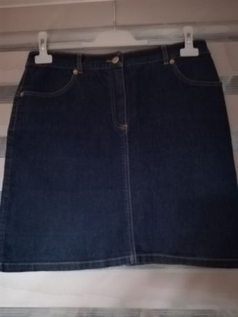 Spódnica jeans granat rozmiar 40 krótka