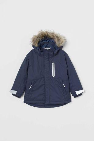 Зимняя курточка для мальчика H&M рост 134