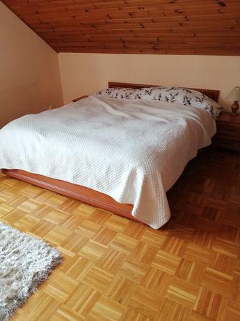 Łóżko 160 x 200 sypialnia firmy Bodzio plus dwie szafki nocne