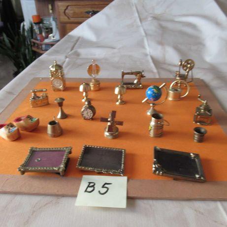 B-5, 20 peças em metal antigas p/ casas miniatura