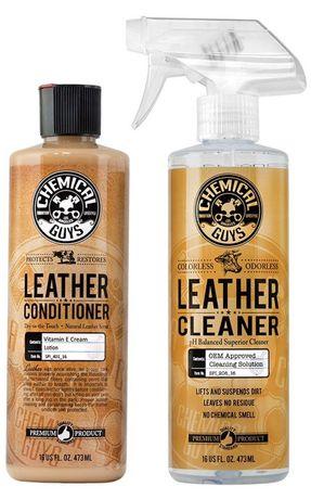 Набор очиститель кожи салона авто и кондиционер Chemical Guys