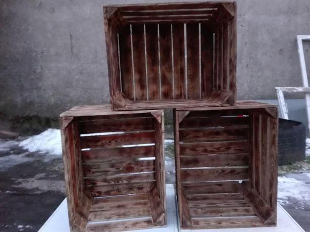 Ozdobna Skrzynki drewniane opalane