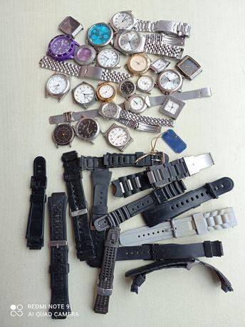 Graty ze starej chaty_stare zegarki _ części, mega zestaw - 35 sztuk