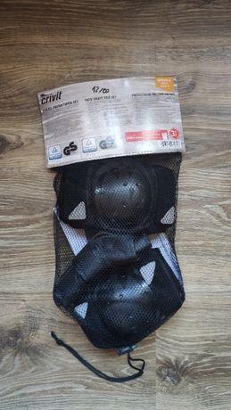 Комплект защиты Crivit 3 в 1 черный размер S, наколенники